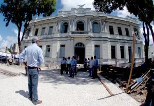 Governador Marcelo Déda Visita obra do antigo Atheneuzinho