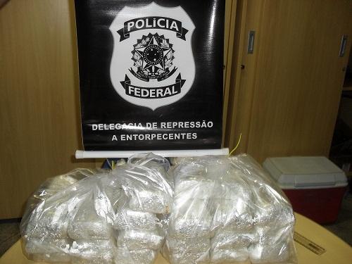 Polícia Federal apreende 21 quilos de cocaina