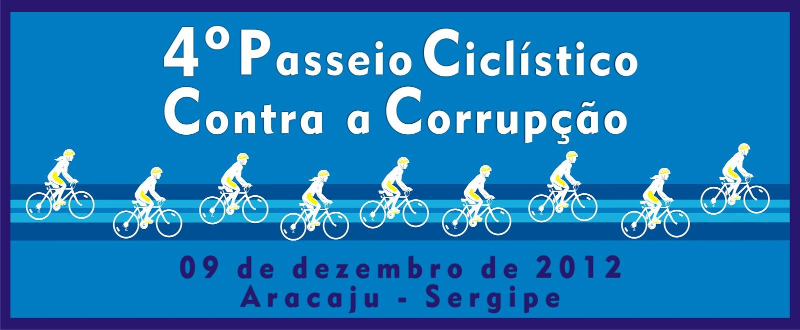 4º Passeio Ciclístico contra a Corrupção acontece no domingo