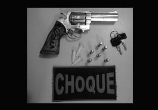 Batalhão de Choque prende fugitivo da justiça com revólver da Guarda Municipal