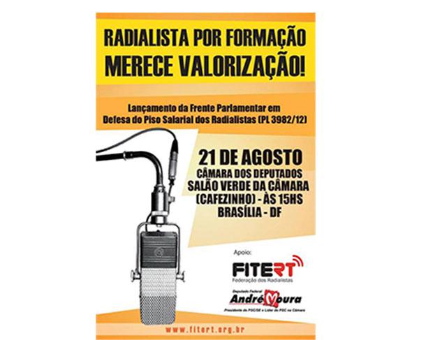 Frente parlamentar em defesa dos radialistas será lançada nesta quarta-feira