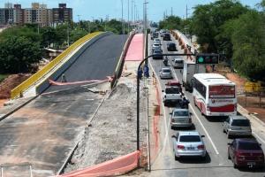 Viaduto do Detran será interditado parcialmente no sábado