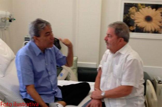 Governador Marcelo Déda recebe visita de Lula e conversa sobre diversos assuntos