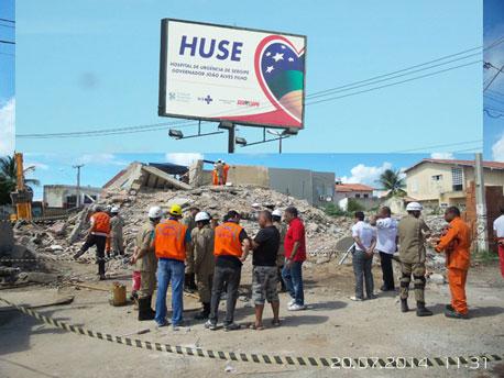 Hospital de Urgência de Sergipe emite NOTA sobre as vitimas do desabamento de prédio