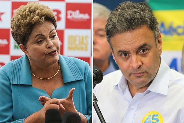 Dilma e Aércio se enfrentam nesta terça-feira na TV