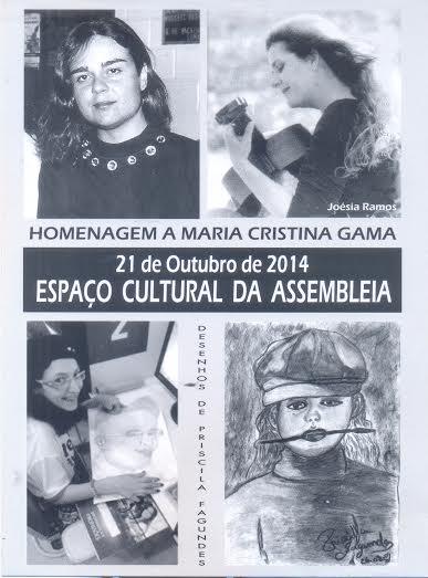 Espaço Cultural da Assembleia presta homenagem a Maria Cristina Gama