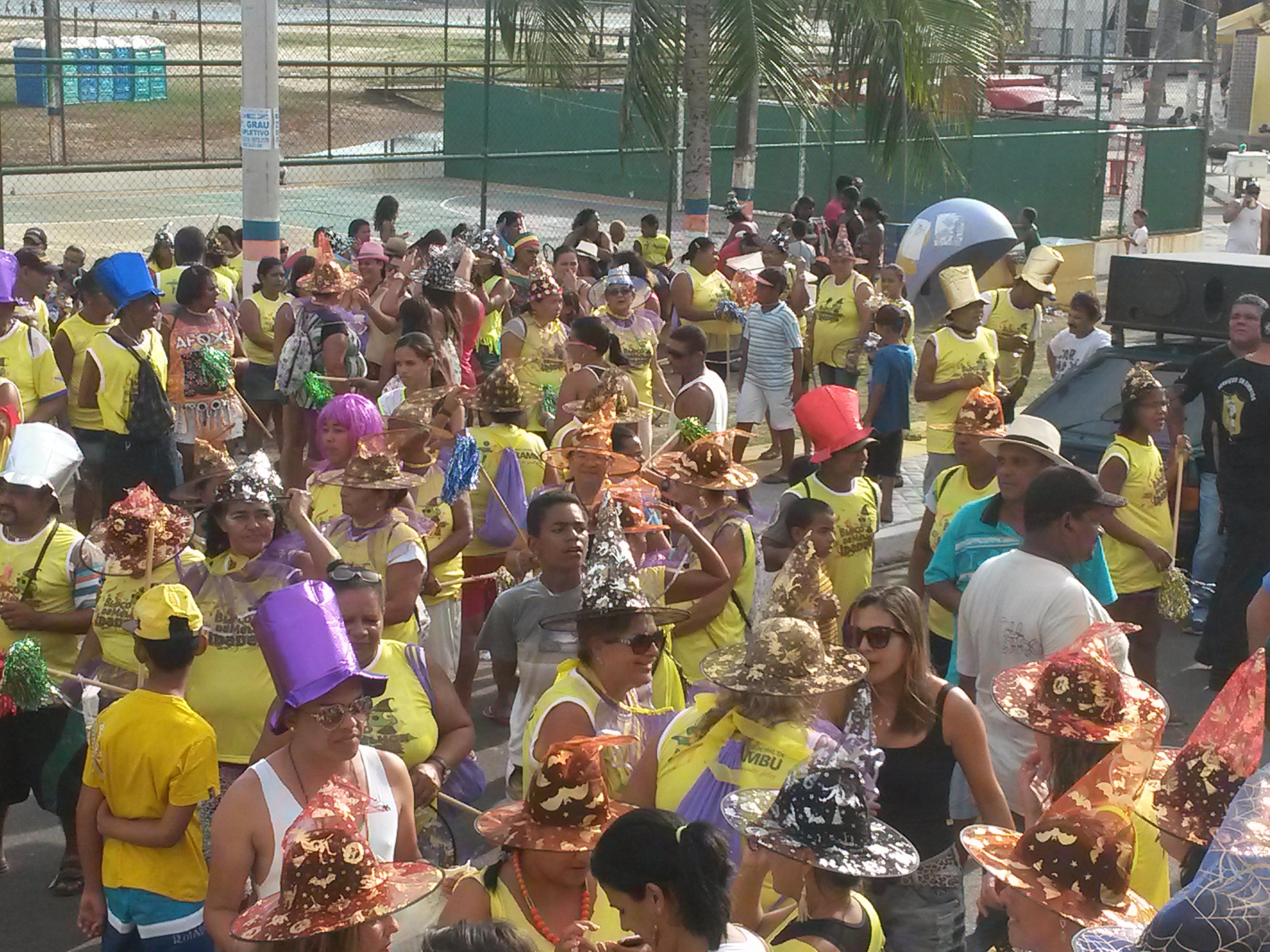 """Bloco da """"Melhor Idade"""" anima o carnaval de Pirambu"""