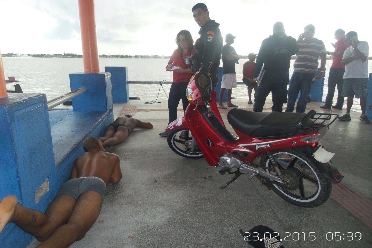 Bandidos são presos após assaltarem trabalhadores da Alma Viva