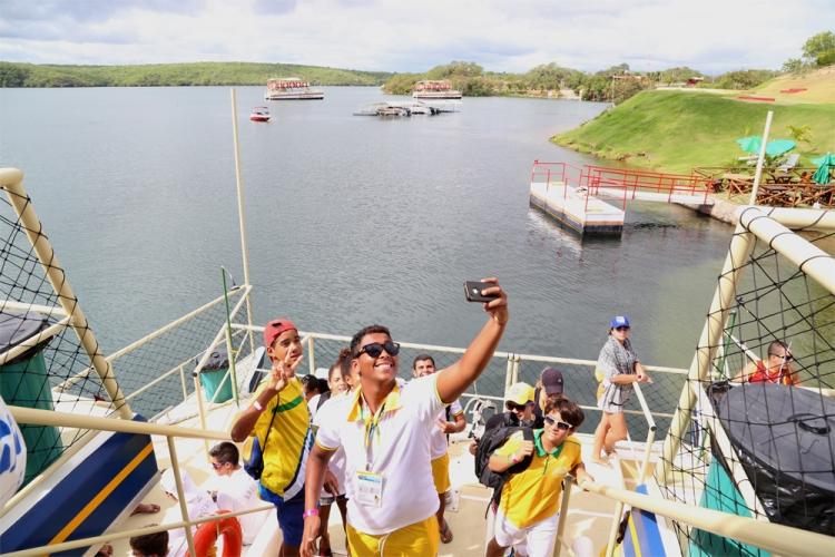 Desportistas do Mundial de Vôlei se encantam com paisagens e cultura sergipana