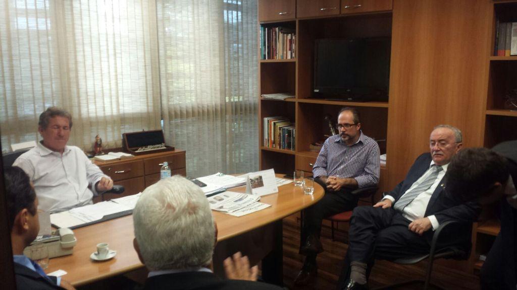 Presidente Luciano Bispo visita Assembleia Legislativa de São Paulo em busca de convênio