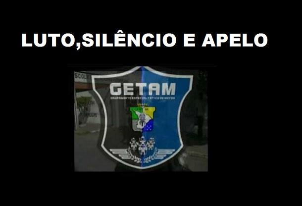 """""""Cavaleiros de Aço"""" ficam em silêncio para protestar a morte do policial do GETAM"""
