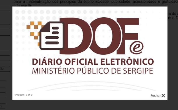 MPE de Sergipe institui Diário Eletrônico como veículo oficial para publicar e divulgar seus atos
