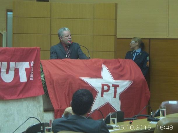 Petistas fazem homenagem a Dutra no plenário da Alese