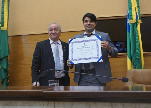 Delegado recebe Título de Cidadão Sergipano