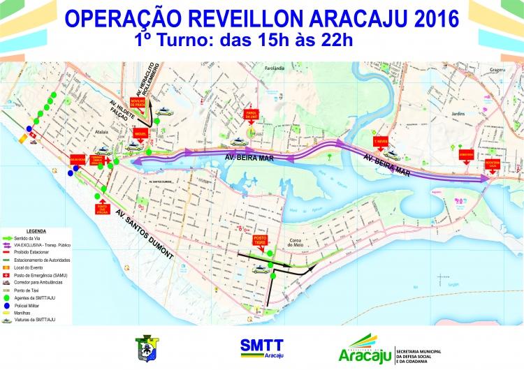 Veja como será o trânsito para Réveillon 2016 na Orla de Atalaia