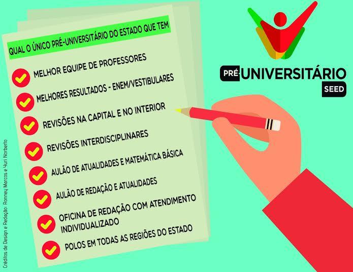 Inscrições para o curso Pré-Universitário terminam nesta quarta-feira