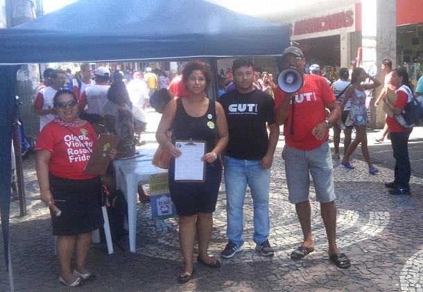 Em Sergipe : Sindicatos coletam assinaturas pelo Veto Popular
