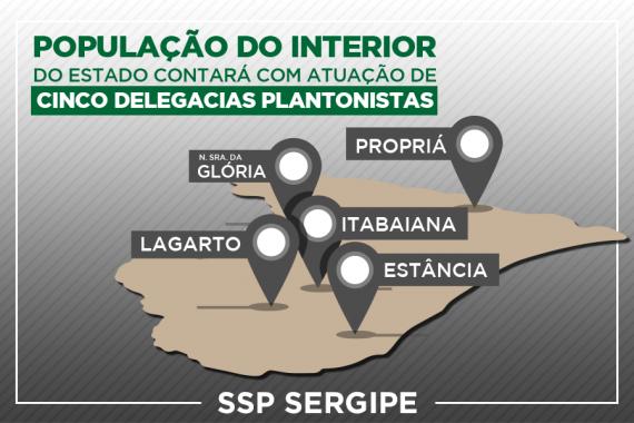 Interior contará com cinco delegacias plantonistas a partir desta sexta
