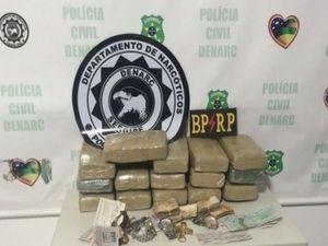 Operação conjunta apreende 15kg de maconha e R$ 8 mil em Aracaju