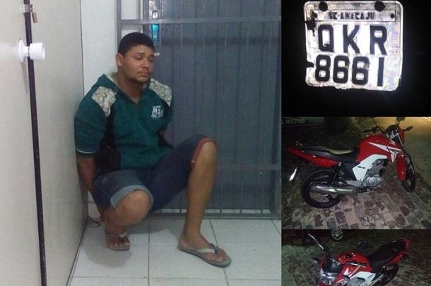 Policia recupera no povoado Mosqueiro moto roubada