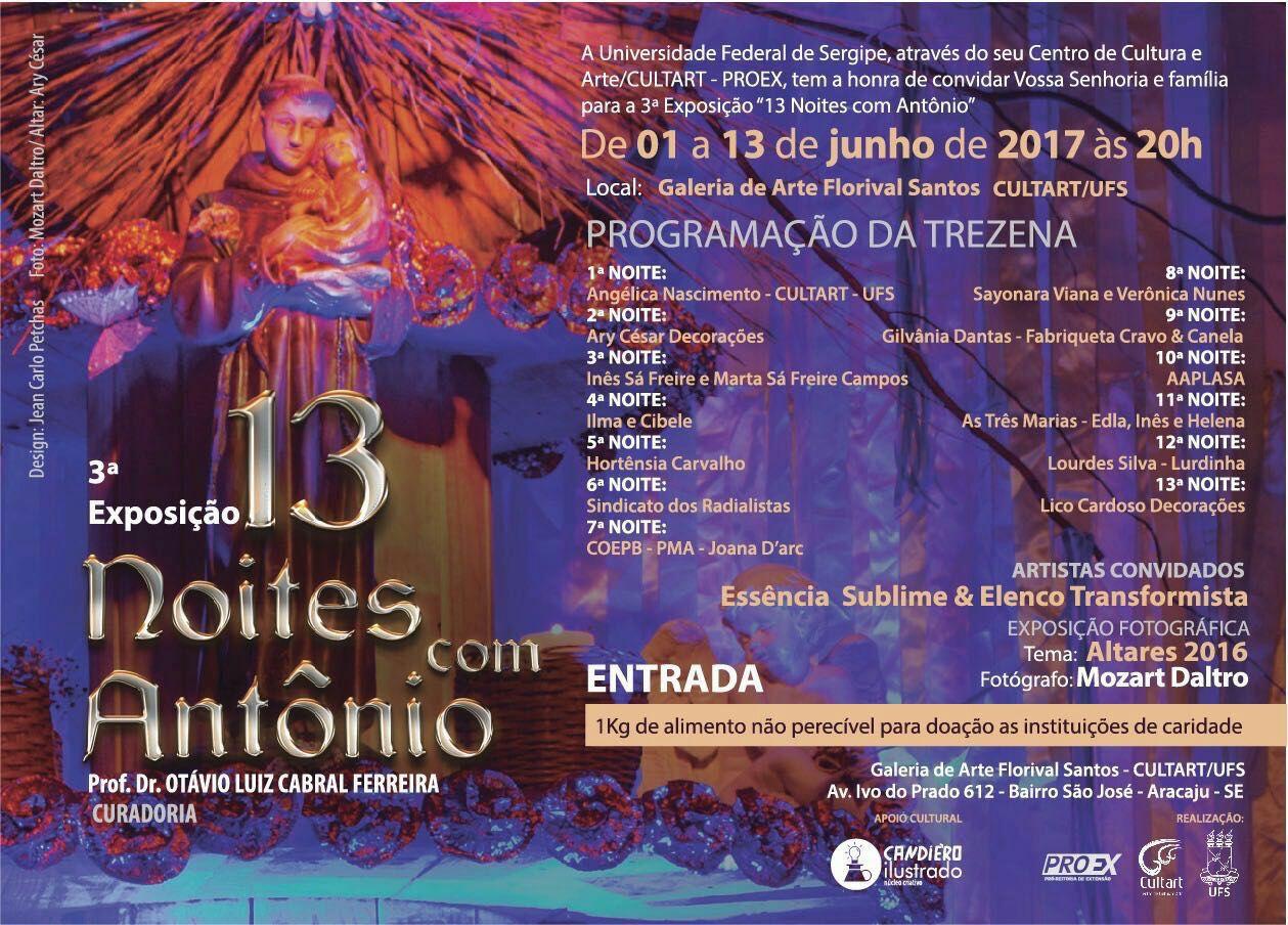 """UFS realiza exposição """"13 Noites com Antônio"""""""