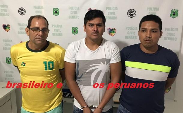 Policiais do Denarc de Sergipe prendem um brasileiro e dois Peruanos que realizavam tráfico de drogas em Aracaju